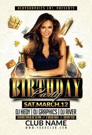 Birthday Invitation Flyer Template Birthday Party Flyers On St Birthday Invitation Message Samples 4