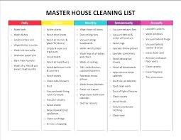 Weekly Household Cleaning Schedule House Cleaning Rota Template Brrand Co