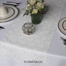 rectangular dining table cover cloth knitted vintage: ivory lace table runner vintage inspired rustic wedding table runner  colors available