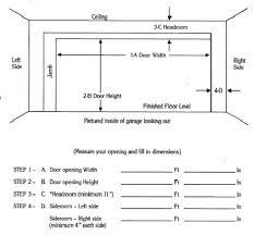 garage door height standardrage widths uk double header size