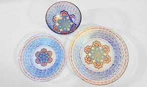 Patterned Dinnerware Magnificent Amazon Moroccan Patterned Dinnerware Set Designer Hand Painted