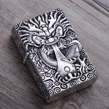 2019 s990 sterling silver china dragon skull pendant male men thai silver lighter luxurious jewelry chhj000010 from mangosteeni 219 23 dhgate com