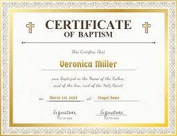 Certificado De Bautismo Template Plantilla De El Certificado De Bautismo De La Iglesia Blanca