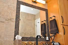 bathroom mirror frame tile. Beautiful Tile Flowy How To Frame A Bathroom Mirror With Tile F23X In Excellent Interior  Home Inspiration With