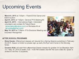 Pta Elections Flyer Pta General Meeting 3 February 6 2015 Agenda Goals Budget