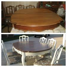 refinish dining room table before and after white base refinished dining room table