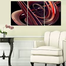 Large Painting For Living Room Framed 3 Pcs Large Hd Beautiful Curves Abstract Canvas Print