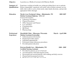 Resume For Medical Assistant Externship Best Resume For Medical Assistant Externship Ideas Best Examples 5