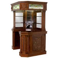 in home bar furniture. corner home bar furniture mahogany tiffany glass canopy antique replica in