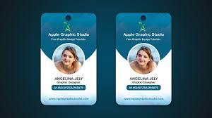 Identity Card Design Company Id Card Design Tutorial Photoshop Cc 2017 Youtube