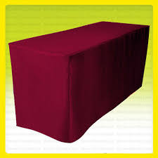 4 fitted tablecloth table cover wedding banquet 30 width burdy red