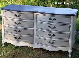 chalk painted furniture ideasFrench Provencial dresser painted taupe white chalk clay paints
