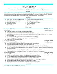 Plumber Resume Best Journeymen Plumbers Resume Example LiveCareer 12