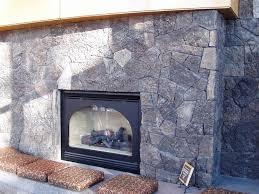 oregon lava veneer fireplace