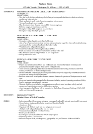 Medical Laboratory Technologist Resume Samples Velvet Jobs Sample