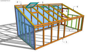 greenhouse with sloped roof