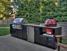 Bbq Outdoor Kitchen Kits Custom Outdoor Cabinets For Big Green Egg Gas Grills And Bbq