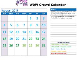 Walt Disney World Crowd Calendar Updated 2019 2020 Best