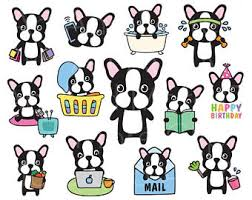 cute french bulldog clipart. Exellent French French Bulldog Clipart Boston Terrier Dog Planner  Sticker Chore Clip Art Life Activity Intended Cute