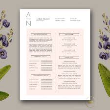 Resume Cover Letter Template Docx By Botanica Paperie On Collection