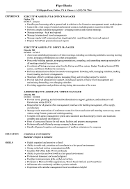 Sample Office Manager Resumes Assistant Office Manager Resume Samples Velvet Jobs