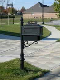 aluminum mailbox post. Aluminum Mailbox Posts 1 Post