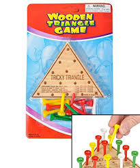 Wooden Triangle Peg Game Amazon 100 X Wooden Triangle IQ Test Solitaire Peg Game by 62
