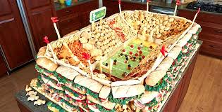 Homemade Super Bowl Decorations Snackadium Super Bowl Party Essential Feel Desain 37