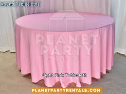 light pink tablecloth for 60 round table
