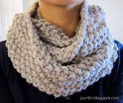 Knitted Scarf Patterns Using Bulky Yarn Delectable Purllin December Seed Stitch Infinity Circle Scarf [ Free Knitting