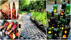 How To Use Wine Bottles For Decoration 100 Sustainable DIY Wine Bottle Outdoor Decorating Ideas 57