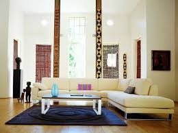tribal pattern pillars in stunning living room decor ideas with nice chaise lounge sofa and cool beautiful living room pillar
