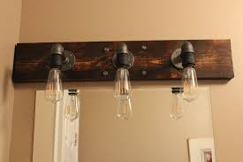 industrial bathroom lighting above mirror diy