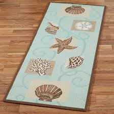 blue and brown runner rug