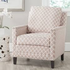 Living Room Furniture Free Shipping Safavieh Buckler Peach Pink White Polyester Fabric Club Chair By