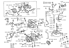 CARBURETOR / toyota | part list|JP-CarParts.com
