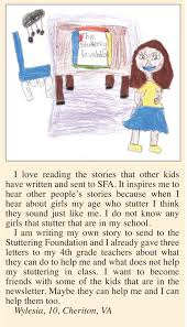drawings and letters from kids stuttering foundation a drawings and letters from kids stuttering foundation a nonprofit organization helping those who stutter