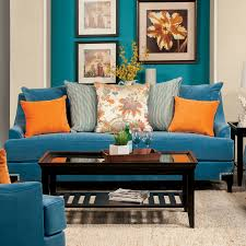 Peacock Color Living Room Furniture Of America Peacock Blue Neliz Premium Sofa Home