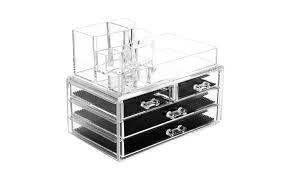 acrylic makeup organizer cosmetic organizers jewelry 4 drawers