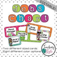 Classroom Jobs Chart Classroom Jobs Chart