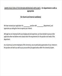 Brilliant Ideas Of Sample Rejection Letter To Internal Applicant