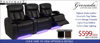... Modern Best Home Theater Chairs With Top Grain Leather Grenada Home  Theater ...