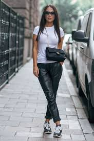 wear the black and white trend like johanna olsson and pair a simple white tee