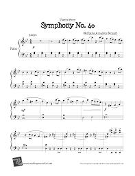 ☆ Mozart-Symphony No. 40 Sheet Music pdf, - Free Score Download ☆