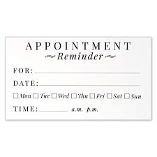 Appointment Card Template Appointment Cards Amazon Com