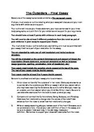essay writing tips to the outsiders essay topics the outsiders dallas winston essay essay