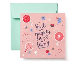 Congrats Baby Card Small And Mighty New Baby Girl Congratulations Card