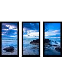 feeling blue framed plexiglass wall art set of 3 17 5 inches x 33 5  on framed blue wall art set with amazing deal on feeling blue framed plexiglass wall art set of 3