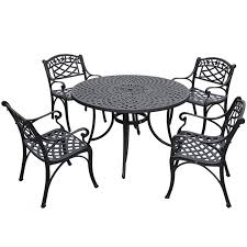 bowery hill 5 piece metal patio dining