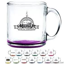 glass coffee mug clear glass coffee mug with custom glow black clear glass coffee mugs made